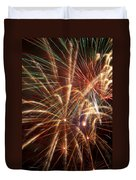 Colorful Fireworks Duvet Cover