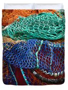 Colorful Fishing Nets 2 Duvet Cover