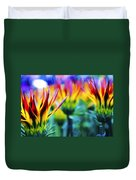 Colorful Flowers Together Duvet Cover