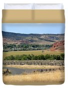 Colorful Hills Of Wyoming Duvet Cover