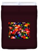 Colorful Lit Water Bottles Duvet Cover