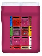 Colorful Mailboxes Duvet Cover