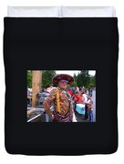 Colorful Man Of The Festival Duvet Cover