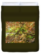 Colorful Maple Leaves Duvet Cover