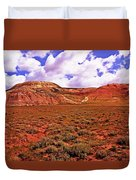 Colorful Mesas At Fossil Butte Nm Butte Duvet Cover