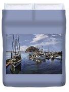 Colorful Morro Harbor Duvet Cover