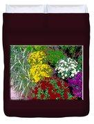 Colorful Mums Photo Art Duvet Cover
