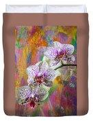 Colorful Orchids Duvet Cover