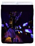 Colorful Passage Inside The Singapore Flyer Duvet Cover
