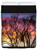 Colorful Silhouetted Trees 26 Duvet Cover