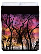 Colorful Silhouetted Trees 27 Duvet Cover