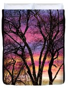Colorful Silhouetted Trees 33 Duvet Cover