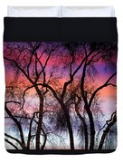 Colorful Silhouetted Trees 9 Duvet Cover