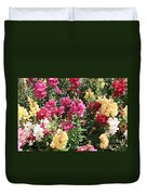Colorful Snapdragons In San Antonio Duvet Cover
