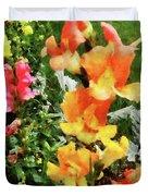 Colorful Snapdragons Duvet Cover