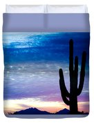 Colorful Southwest Desert Sunrise Duvet Cover