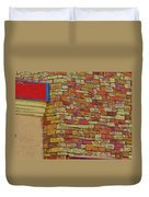 Colorful Stacked Stone Duvet Cover