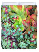 Colorful Succulent Plants For You Duvet Cover