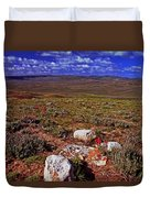 Colorful Valley From Fossil Lake Trail Duvet Cover
