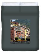 Colorful Vernazza Duvet Cover