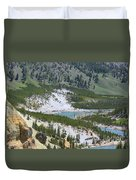 Colorful Yellowstone Valley Duvet Cover
