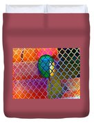 Colors Hiding Behind Fence Duvet Cover