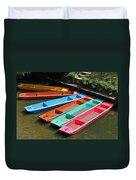Colourful Punts Duvet Cover