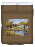 colours Of Elk Island Duvet Cover