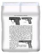 Colt Automatic Pistols Duvet Cover