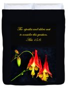 Columbine And Acts 15 16 Duvet Cover