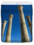 Column In Capitol In Ancient Roman City Duvet Cover