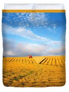 Combine Harvesting, Wheat, Ireland Duvet Cover