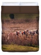 Combining Soybeans Duvet Cover