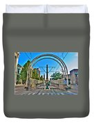 Coming And Going Downtown Main St Duvet Cover