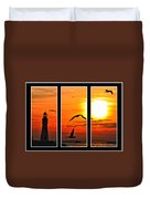 Coming Home Sunset Triptych Series Duvet Cover