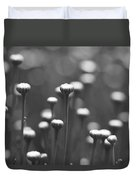 Coming Up Daisies Abstract In Black And White Duvet Cover