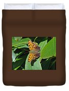 Comma Anglewing Butterfly - Polygonia C-album Duvet Cover