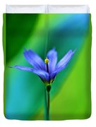 Common Blue Eyed Grass Sisyrinchium Duvet Cover