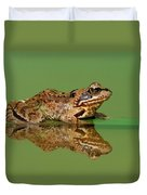 Common Frog Rana Temporaria Duvet Cover