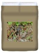Common Whitetail Dragonfly - Plathemis Lydia - Female Duvet Cover