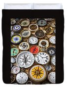 Compases And Pocket Watches  Duvet Cover by Garry Gay