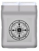 Compass In Black And White Duvet Cover