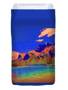 Complementary Mountains Duvet Cover