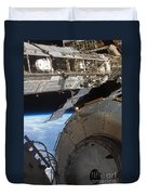 Components Of The International Space Duvet Cover by Stocktrek Images
