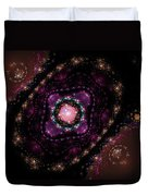 Computer Generated Pink Magenta Abstract Fractal Flame Black Background Duvet Cover