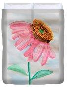 Coneflower - Watercolor Duvet Cover