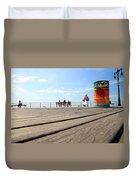 Coney Island Boardwalk Duvet Cover