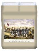 Confederate Generals Duvet Cover