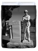 Confederate Soldier Memorial Duvet Cover by Kathy Clark