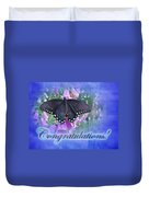 Congratulations Greeting Card - Spicebush Swallowtail Butterfly Duvet Cover